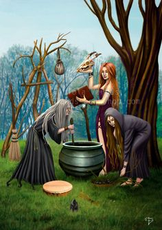 the three seasons of the woman: maiden, mother, crone. Wiccan Witch, Magick, Wicca Witchcraft, Maiden Mother Crone, Art Magique, Beautiful Witch, Pagan Art, The Worst Witch, Season Of The Witch