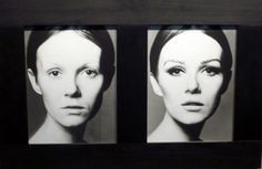 Nicole de Lamargé, avant et après maquillage, Peter Knapp pour Elle, 1965