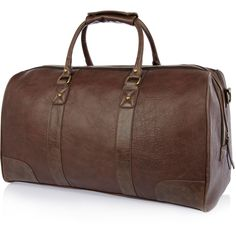 Brown large weekend holdall bag