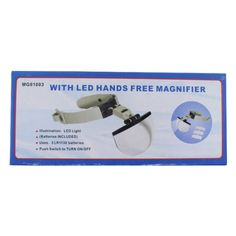I like this  Handsfree Jewellery & Tattoo LED Lighted Magnifier Head Lamp