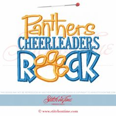 2261 Custom : Panthers Cheerleaders Rock Applique 5x7