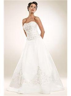 Full strapless A line Wedding Dresses WG2303 $169.49