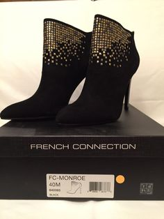 Booties French Connection Monroe Studded  Black Size 9  #FrenchConnection #Booties