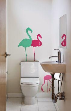 Flamingo on pinterest ev dekorasyon flamingos and html for Flamingo bathroom accessories set