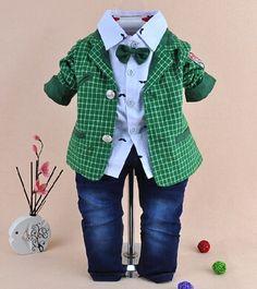 Ucuz  Doğrudan Çin Kaynaklarında Satın Alın: öğe:2014 yeni yüksek kaliteli erkek coat+shirt+pant 3 adet;Malzeme:pamukRenk:Kırmızı, yeşilBoyutu:8( ler), 10( m), 12( l)Boyutu 8( ler):Için uygun 73-80cm yüksekliği; seçiniz 10-12months;Boyutu 10( m)