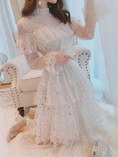 Pretty Outfits, Pretty Dresses, Beautiful Dresses, Cute Party Dresses, Gorgeous Dress, Sequin Mesh Dress, Ruffle Dress, Ruffles, Sequin Prom Dresses