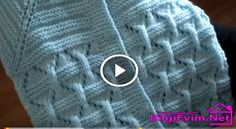 Ajurlu Elmas Modeli Yaplışı Videolu Anlatım Knitting Videos, Knitting Stitches, Free Knitting, Baby Knitting, Cardigan Bebe, Knitted Baby Cardigan, Knitted Hats, Lace Sweater, Diy Crochet Scarf