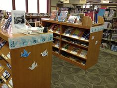Celebrate Martin Luther King Junior with dream doves. Kids can either write out a dream or decorate a dove and display it in the library for a few weeks for MLK's birthday. The doves are next to books about MLK