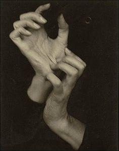 thecompassrose:  Georgia O'Keeffe (Hands), 1919, by Alfred Stieglitz