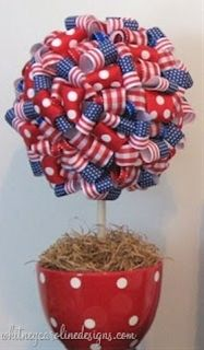 Ribbon Topiaries - DIY Centerpieces - Click image to find more holidays & events Pinterest pins