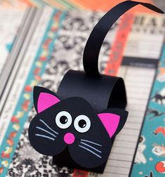 ❤ Aranyos bólogató fekete macska papírból gyerekeknek ❤Mindy - kreatív ötletek és dekorációk minden napra