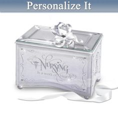 Nurses Personalized Mirrored Music Box: Reflections Of Tender Loving Care - http://bradford-exchange.goshopinterest.com/collectibles/music-boxes/nurses-personalized-mirrored-music-box-reflections-of-tender-loving-care/