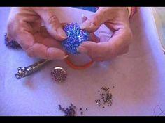 Beaded caterpillar fringe bracelet ~ Seed Bead Tutorials