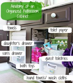 Hi Sugarplum | Organized Bathroom Cabinet by hi sugarplum!, via Flickr