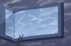 Ilustrações surreais para amantes de livros - por Lee Jungho - Stefany Blog