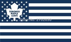 #TORONTO #MAPLE #LEAFS #HOCKEY #SPORTS #TEAM #STAR #& #STRIPE #US #NATIONAL #FLAG #3FT #X #5FT #CUSTOM #BANNER #WITH #SLEEVE #TWO #GROMETS #90*150CM