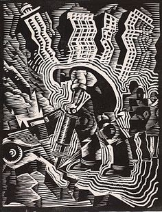 One of my favorite WPA artists, Charles Turzak. I love this image.