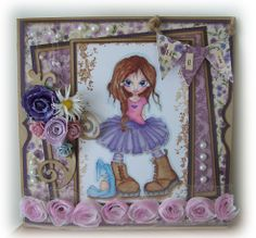 Honey! Saturated Canary image! Cardmaking!