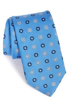 Eton+Floral+Print+Silk+Tie+available+at+#Nordstrom