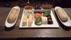 Crudités cheese & baguette Baguette, Crudite, Plastic Cutting Board, Cheese, Ethnic Recipes, Tea, Antiques, Food, High Tea