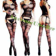 Black XS-4XL Sexy Fishnet Body Stocking Lingerie Adult Erotic Love Sex Toys#476 #Daisland #WomanBodystockingBodyStockingsSexyLingerie