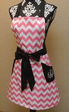 Personalized Pink chevron Chevron with Black Trim by LizzysBiz, $41.00