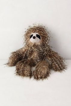 If I could I would collect sloths. Fuzzy Friend Stuffed Animal - anthropologie.com-Sloth