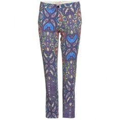 Etro Print Capri Trousers