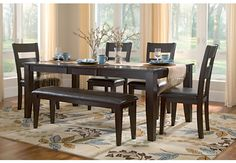 The Sussex 5 piece dinette set is a perfect blend of old style meets new. The group's transitional styling seamlessly blends traditional and modern designs. Constructed from solid Mango with a cafe finish. *Set Includes: Table and 4 Side Chairs Dining Room Art, Dining Area, Dining Set With Bench, Dining Bench, Home Depot Online, Dinette Sets, Side Chairs, Cool Furniture, Modern Design