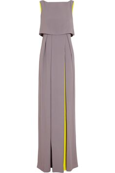 Roksanda Ilincic | Orianne two-tone crepe gown | NET-A-PORTER.COM  Stunning Shape = athletic rectangle body type colour = light cool toned blondes