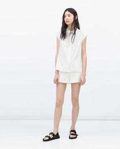 Image 1 of SIDE SLIT SHIRT from Zara