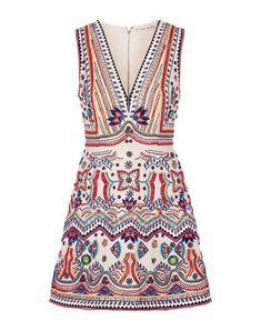 Summer Day Dresses, White Dress Summer, White Mini Dress, Summer Wear, White Beaded Dress, White Embroidered Dress, Beaded Dresses, Maxi Dresses, Party Dresses