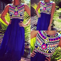 love this dress!! I want it! i love the bold colors and pattern