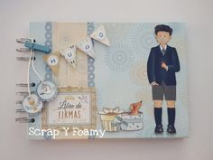 Clip Art, Album, Color Azul, Ideas, Signature Book, Children Outfits, Thoughts, Pictures, Card Book