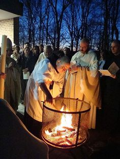 """Ritualism, despite what some say, is important.  Rituals mark milestones in any civilization or culture.  And rites are crucial to religion.  So, with the Easter Vigil, we mark the resurrection of Jesus in a lovely (and long) ritual much grander and more meaningful than any Protestant Easter Sunrise Service.  During Lent we have not said the """"A"""" word (Alleluia).  We have put away most candles and entered into a penitential mood.  This has become increasingly somber the closer we have come…"""