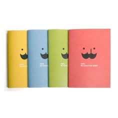 Jstory Mr.Babba A5 size school lined notebook - fallindesign