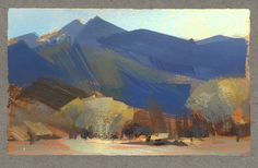 Nathan Fowkes, Land Sketch: View from my hotel in Death Va...