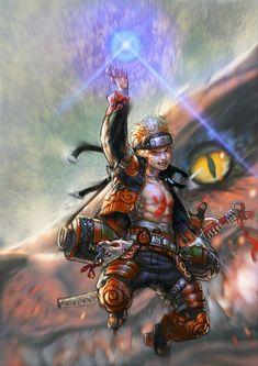Incredible Fan Art of Naruto and Kurama Naruto Vs Sasuke, Anime Naruto, Otaku Anime, Fan Art Naruto, Got Anime, Naruto Uzumaki Art, Wallpaper Naruto Shippuden, Naruto Wallpaper, Manga Anime