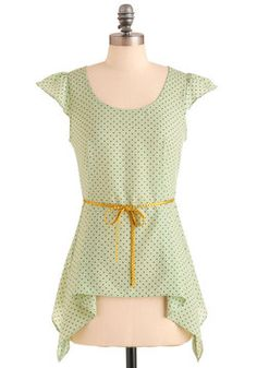 Love the cap sleeves. Fresh Mint And Chocolate Top, #ModCloth