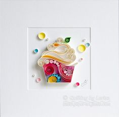 Quilling Paper Wall Art - Happy Cupcake To You! Quilling Paper Wall Art - Happy Cupcake To You! Quilling Birthday Cards, Paper Quilling Cards, Paper Quilling Flowers, Paper Quilling Patterns, Quilled Paper Art, Quilling Craft, Quilling Ideas, How To Do Quilling, Quilling Tutorial