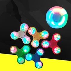 Shake Light Fidget Hand Spinner Colorful Lighting For Autism and ADHD Finger Spinner Anti Stress Gift Toy LED finger spiner