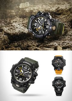 "The new G-SHOCK dubbed the ""MUD MASTER,"" is constructed to resist mud and vibration so that it can be useful in a variety of harsh land environments. S Shock Watch, New G Shock, G Shock Mudmaster, Casio G-shock, Casio Watch, Cool Watches, Watches For Men, Casio G Shock Watches, Tactical Wear"