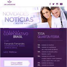 Não se Esqueça da Nossa Conferência Online Oficial Jeunesse Brasil com todas as Novidades da Semana e dicas do nosso Negócio!   Ela acontece todas as Quarta-Feiras às 17h. Conecte-se pelo link a Seguir: http://ift.tt/1iuShb6  Para mais informações contacte-me por: URL: http://ift.tt/1U7UqoC informações:rejuvenescimentoportugal@gmail.com Facebook: /rejuvenescimentoportugal WhatsApp: (00351) 962 323 703 Skype: spitfire_pt2006