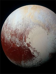 This image is of the dwarf planet Pluto. Citation: NASA's New Horizons spacecraft captured this high-resolution enhanced color view of Pluto on July Cosmos, Nasa Images, Hd Images, Google Images, Bing Images, Nasa New Horizons, Planets And Moons, Nasa Planets, Night Skies