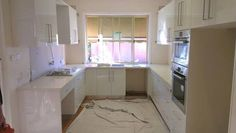 Image result for u shaped kitchen window at end