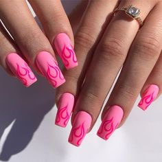 In search for some nail designs and some ideas for your nails? Here is our list of must-try coffin acrylic nails for cool women. Summer Acrylic Nails, Best Acrylic Nails, Gel Nail Art, Acrylic Nail Designs, Nail Polish, Nail Nail, Pink Nail Art, Colorful Nail Designs, Nail Designs Spring