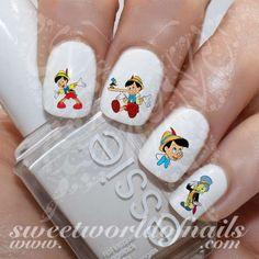 Pinocchio Nail Art Water Decals Jiminy Cricket Water Slides