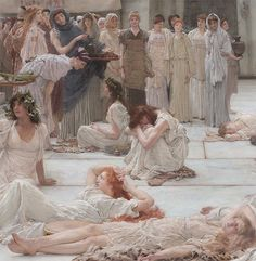 Women of Amphissa (detail) (1887), Lawrence Alma-Tadema (1836-1912)