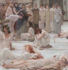 Women of Amphissa (detail) (1887), Lawrence Alma-Tadema (1836-1912)