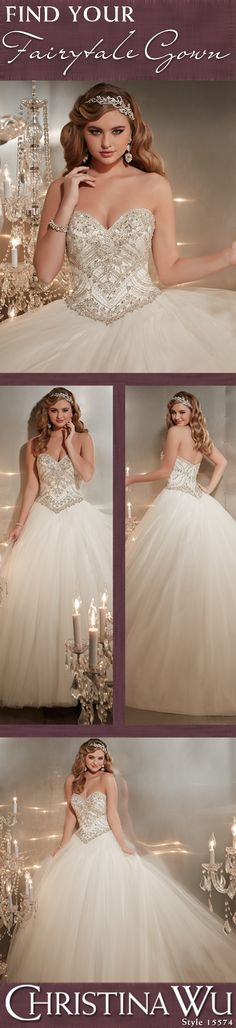 Timeless, romantic and truly fit for a princess. Christina Wu Style 15574 captures your heart. #princessgown